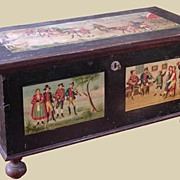 Painted 19th C. French Trunk