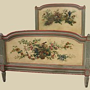 19th Century French Painted Bed