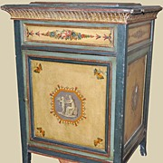 Pretty Painted French Cabinet
