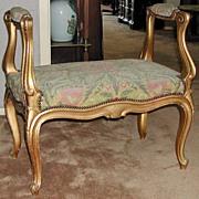 French Gilt Bench