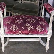 Darling French Louis XVI Style Refinished Bench
