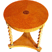 Biedermeier Veneered Table