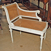 Louis XVI Style Cane Bench