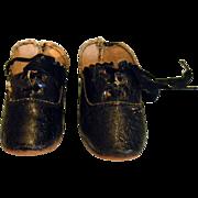 Black German doll shoes