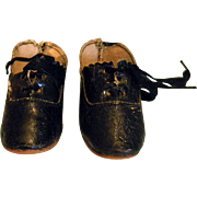 Black German doll shoes
