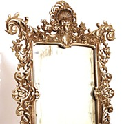 SOLD French Standing Vanity Mirror