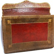 SOLD Antique French Gilt Tooled Morocco Leather Porte-Documents from the era of Marie-Antoinet