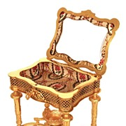 SOLD Napoleon III Gilt Doré Standing Miniature Jardinière Box