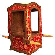 SOLD Antique French Nineteenth Century Miniature Chaise a Porteur (Sedan)