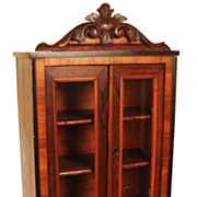SOLD French Miniature Solid Wood Armoire