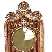 SOLD Antique French Napoleon III Bronze Doré Picture Frame with Velvet Inset