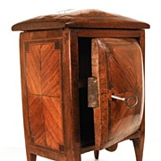 SOLD Rare Early Nineteenth Century French Standing Miniature Bombé Cabinet