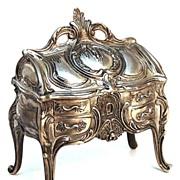SOLD Antique Miniature French Louis XV Style Metal Bureau/Trinket Box