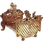 SOLD Napoleon III Miniature Bronze/Copper/Metal French Lit (Bed)