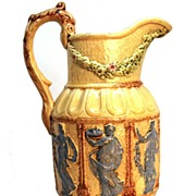 SOLD Antique 19th Century French Majolica Pitcher