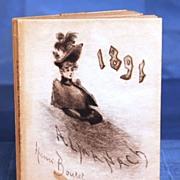 SOLD Antique 19th Century French Ladies' Almanach circa 1891