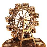 "SOLD Antique French ""Grand Tour"" Miniature Grande Roue"" (Ferris Wheel) Pique-Ai"