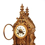 SOLD Antique Nineteenth Century H & F Paris French Brass Figural Clock