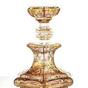 SOLD Early Nineteenth Century French Glass Scent Bottle w/Original Bouchon