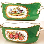 SOLD Antique Nineteenth Century French Hand Painted Porcelain Coupe