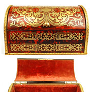Rare Antique Napoleon III Boulle (Brass and Shell Inlay) Boite a Courrier