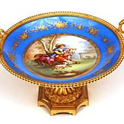 SOLD Antique Napoleon III Porcelain de Sevres Gilded Coupe