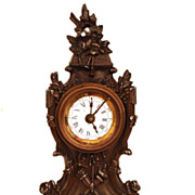 SOLD Antique Nineteenth Century French Case Metal Boudoir Clock