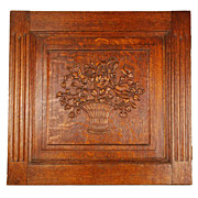 SOLD Antique Nineteenth Century Carved Architectural Panel