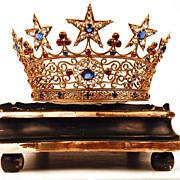 SOLD Antique French Santos Crown/Tiara