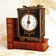 SOLD Antique Napoleon III Era French Carriage Clock