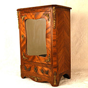 SOLD Antique Nineteenth Century Miniature French Satinwood Armoire