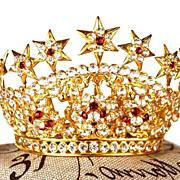 "SALE PENDING Antique Nineteenth Century Diadem Santos Crown ""Tremblant"""