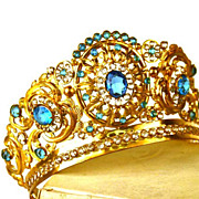 SOLD Antique 19th c. French Gilded Santos (Virgin Mary) Diadem Crown