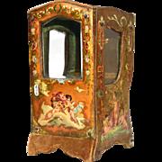 Antique Nineteenth Century Vernis Martin Miniature Chaise a Porteur