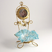 French 19C Dressing Table Trinket Vanity Stand and Bowl