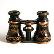 1890 French Enamel and Gold Gilt Opera Glasses