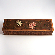1900 Fabulous Art Nouveau Box 13 by 4 inches and 2 inches high