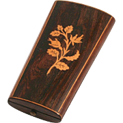 SOLD Antique French Napoleon III Period Sewing Etui Set Case Inlaid Wood