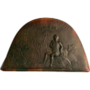 1820 Horn Snuff Box Napoleon Hat Bicorne with Inscription