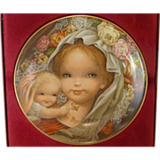 SALE Schmid Porcelain Plate, by Juan Ferrandiz, Mother and Child, Germany