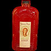Depression Era  Virginia Dare Bottle, Flask, 1930's, Lemon Syrup, Prohibition Era