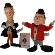 SOLD Laurel and Hardy, 1950's Bend 'EmDolls, Japan, Knickerbocker, Sons of the Desert Fan Club