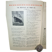 SOLD Steamship Leviathan, 1927, Souvenir Log, Admiral Byrd, Charles Lindbergh, Cruise, France