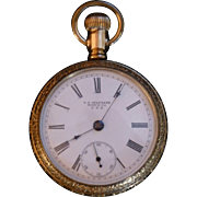 Large Antique Pocket Watch, NY Standard, Yellow Gold Filled,  Victorian Era, Model 60, Size 18