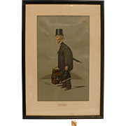 Vintage Vanity Fair Spy Chromo Lithograph Print, 1900, From Watercolor  by Leslie Ward, ...