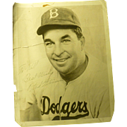 Giants, Dodgers, Freddie Fitzsimmons, Autographed Picture, 1948 as Boston Braves Baseball  ...