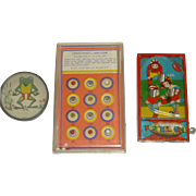 """SALE Three Old Bagatelle Toys, 1930's, '40's, & '50's. Early """" Pin Ball Machines ..."""