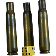 SALE Militaria, Brass Shell Casings, 20MM, Inert and Empty, Spent Primers