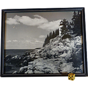 SOLD Flawless 1930's, Bass Harbor Head Lighthouse, Mt. Desert Island, Acadia, Maine. Copyright