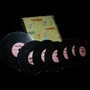 SALE Thorens Music Discs, 1940's - 50's, Switzerland, Seven Discs for D30 Music Box ...